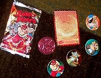 相撲Dudes Pog / Disc &カードパック。Find 1つシルバーディスク& 4つ他プラスディスクのカード各パック。