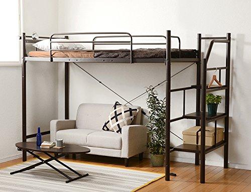 ロフトベッド ベッド シングルベッド ミドルタイプ ベッド下...