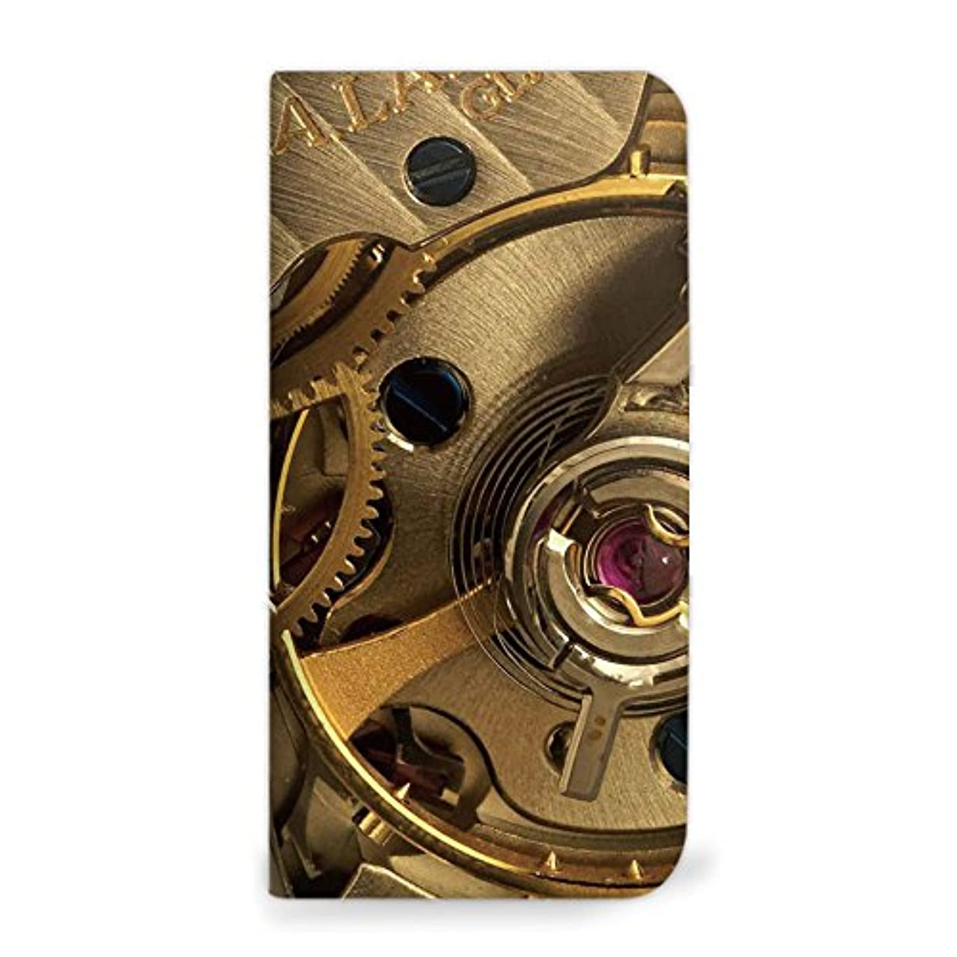 仕事から聞くどっちでもmitas Xperia Z2 SO-03F ケース 手帳型 ベルトなし 歯車 時計 D (182) NB-0234-D/SO-03F