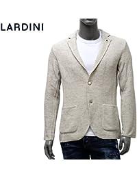 (ラルディーニ) LARDINI ジャケット ニット ジャガード織り ホワイト×ベージュ EELJM19 EE50013 100BE [並行輸入品]