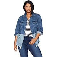 Lucky Brand Women's Plus Size Pieced Waisted Trucker Jacket, BOLGART