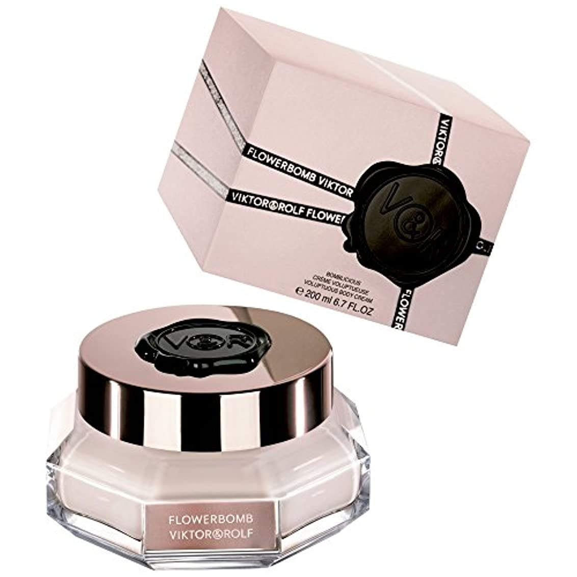 ネストテーブルを設定するのれんヴィクター&ロルフFlowerbombボディクリーム200ミリリットル (Viktor & Rolf) (x2) - Viktor & Rolf Flowerbomb Body Cream 200ml (Pack of...