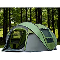 キャンプテント, 3 ~ 4 人 ドームテント 自動インスタント ポップアップ ポータブル キャリー バッグ 車のテント 屋外キャンプ