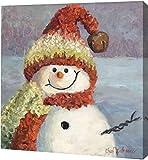 """赤いハート雪だるまby Cheri Wollenberg???ギャラリーWrapped Gicleeキャンバスアートプリント???Ready To Hang 20"""" x 20"""" GW-POD-48-CW1001-20x20"""