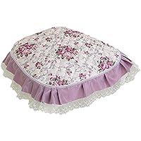 Zhi Jin 欧米風 ダイニングチェアカバー 牡丹 座布団カバー43x45 家庭装飾品 ピンク