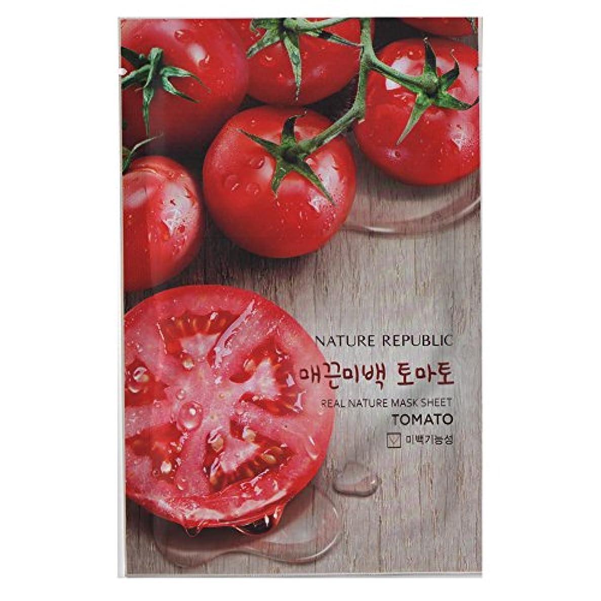 プレートせがむ時折[NATURE REPUBLIC] リアルネイチャー マスクシート Real Nature Mask Sheet (Tomato (トマト) 10個) [並行輸入品]