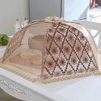 ZPTAT フードカバー 洗える テーブルカバーは折り畳みカバーができます。食べ物カバーはハエ防止丼カバーです。,C,80 cm