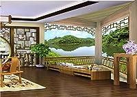 xli-you 3d壁紙カスタム写真3d壁紙壁画壁ステッカーGazebo Landscape 3d中国スタイル絵画3d壁壁画部屋壁紙ステッカー壁画 XLi-You45282-5246