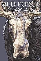 古いForge、ニューヨーク–Moose Up Close 24 x 36 Giclee Print LANT-53209-24x36