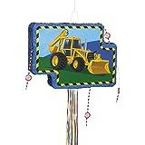 Construction Truck Pinata, Pull String, 15' x 21' [並行輸入品]