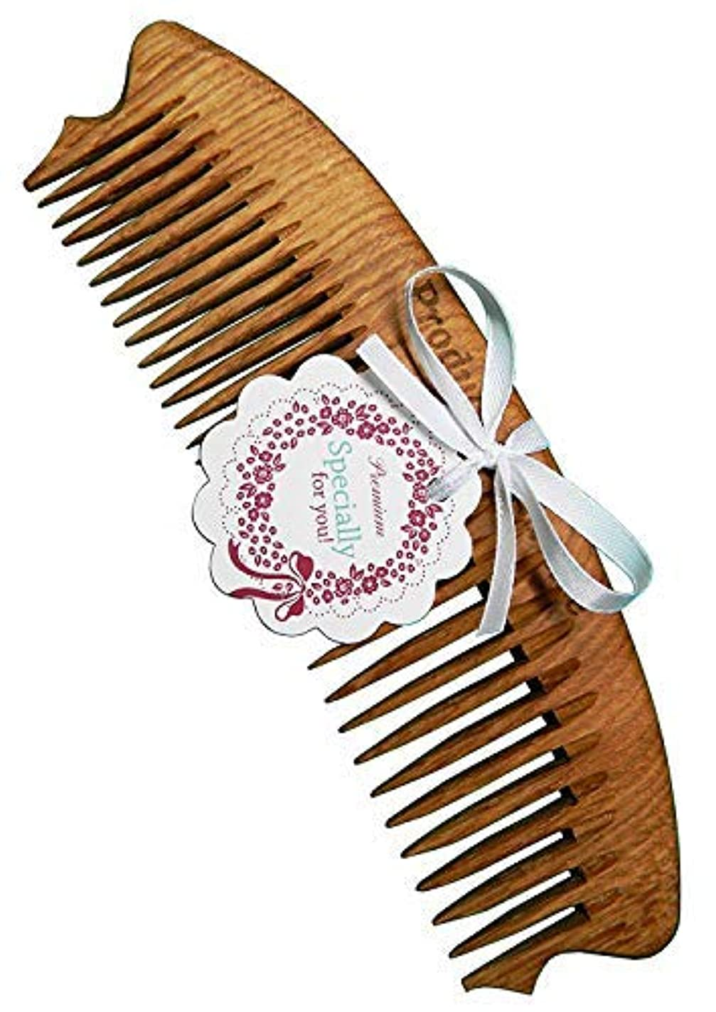 友だち水分専門Wooden comb It is a special comb made from natural oak wood 100% HANDCRAFTED Premium [並行輸入品]