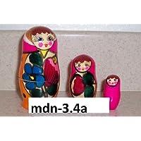 Russian Nesting Doll (Maidan) 3 Pcs / 4 in mdn-3.4a