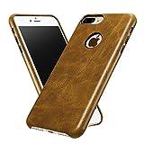 ALYEE iPhone7 Plus 本革製 保護ケース 超薄型 超軽量 高級感満点 5.5インチ ライトブラウン