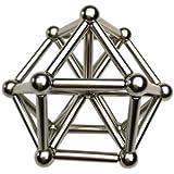 山の奥 強力磁石の立体パズル マグネットボール マグネット建物セットブロック磁気積み木立体パズル デスクのおもちゃ 直径8mm マジック磁石 ネオジム磁石 教育工具 36本棒+27個ボールセット 子供 大人に適用