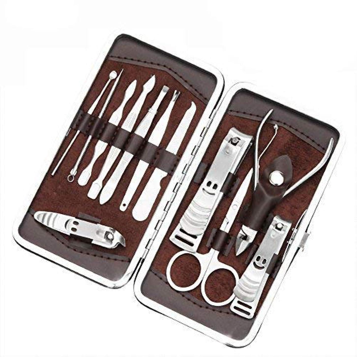 夜間汚れたの爪切り?ネイルケア 12点 セット ネイル ブラシ ケア 高級なステンレス製 携帯便利グルーミング キット爪の爪切りセット SPH-022