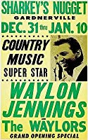 """ウェイロン・ジェニングス& The Waylors–1971–コンサートポスター 13"""" x 19"""" Inches"""