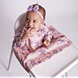 BIBADO – Baby WEANING/HIGH Chair Coverall BIB (Choose Colours) (Pink)