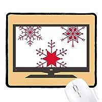 クリスマススノーフレークレッド・フェスティバル マウスパッド・ノンスリップゴムパッドのゲーム事務所