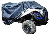 ATV バギー ボディー カバー トライク 大型 バイク 選べる 色 大きさ (ブラック, L)