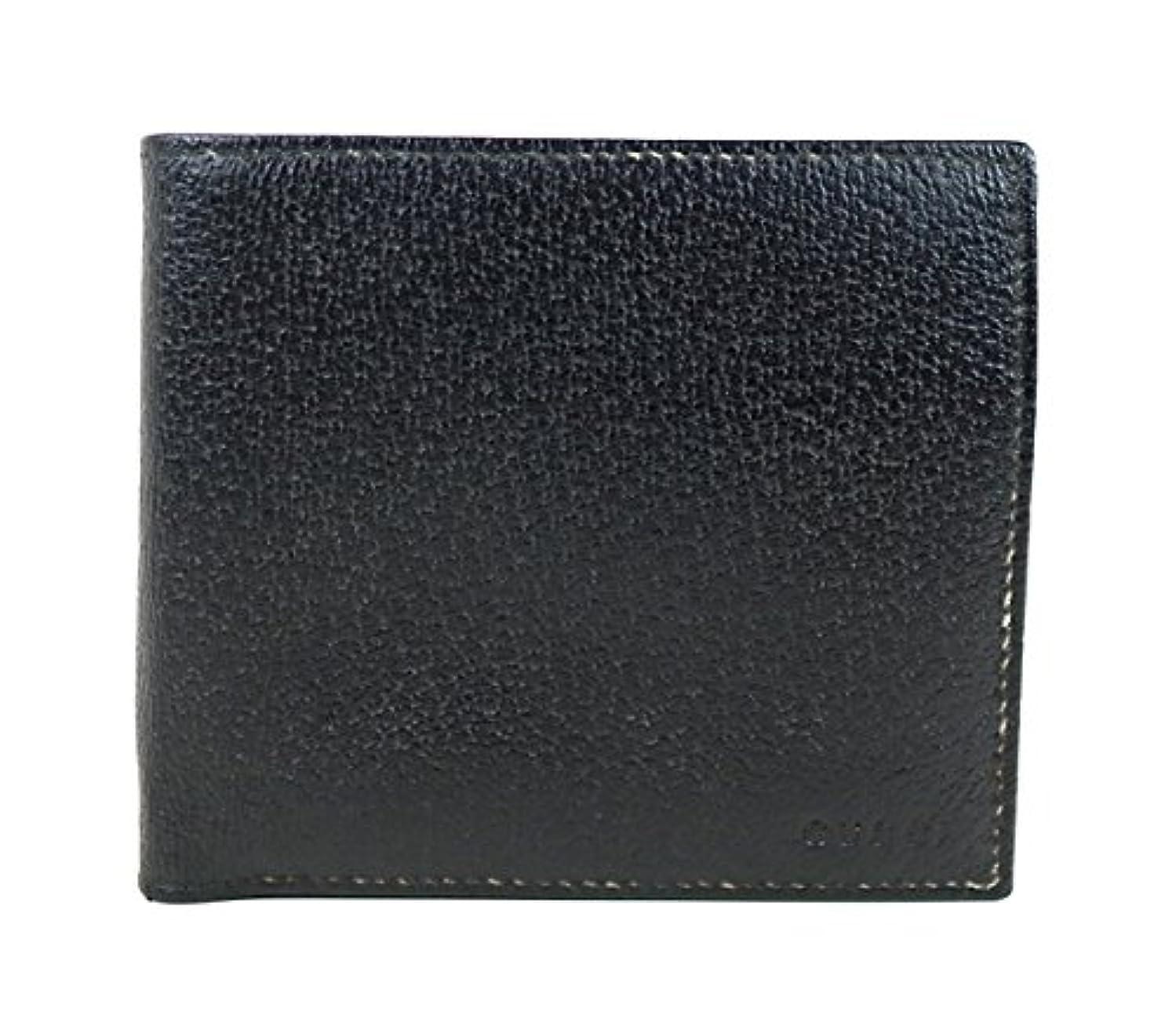 いっぱいひねくれた同情(グッチ) GUCCI  二つ折り財布 メンズ 黒  f361 [中古]