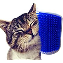 Heyuni. Pet Cat Self Groomer Brush Wall Corner Grooming Massager Comb Catnip Toy