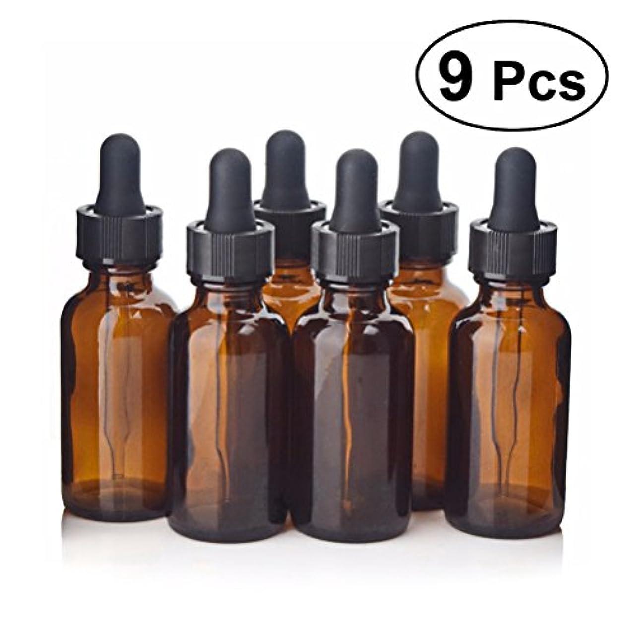 立ち寄る不正確一般的にFrcolor スポイト遮光瓶 エッセンシャルオイル 香水 保存用 9個入り  30 ml