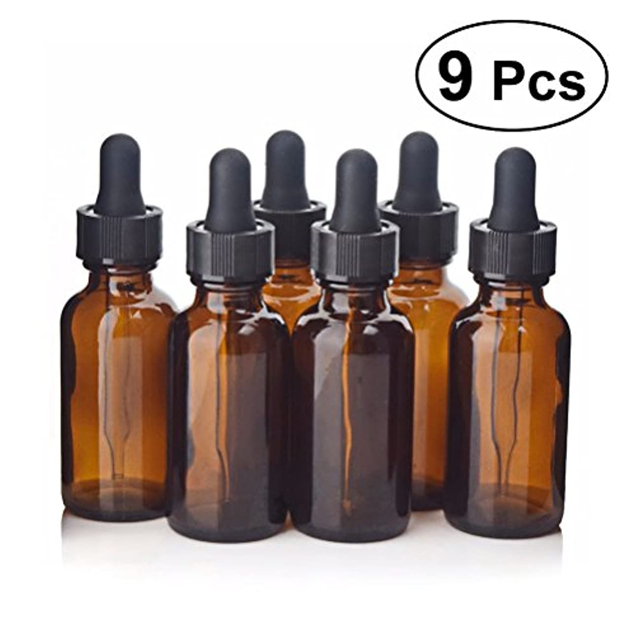 登録する重々しい化学薬品Frcolor スポイト遮光瓶 エッセンシャルオイル 香水 保存用 9個入り  30 ml