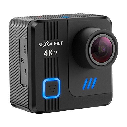NexGadget アクションカメラ 4K WIFI 1600万画素 170度広角 30m防水 ドライブレコーダー機能