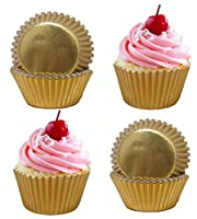 400 Gold Foil Cupcake Paper Baking Cups Metallic Muffin Liners Cupcake Bakeware Suppliers.