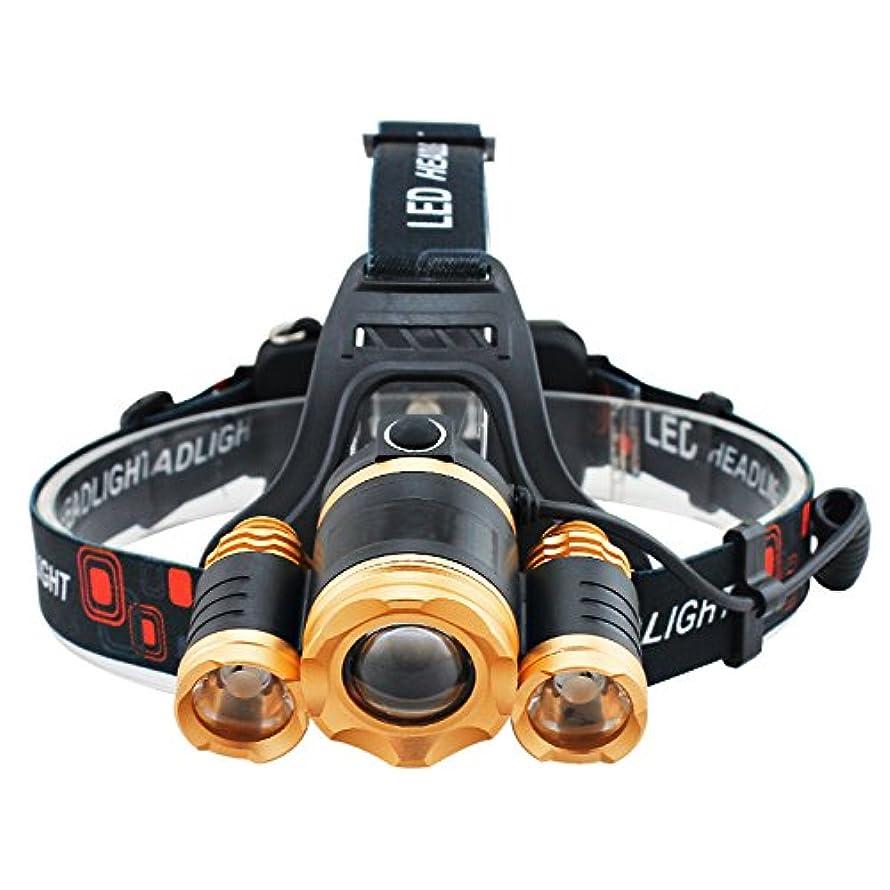透けて見えるアッティカス報酬のLEDヘッドライト 30ワットled照明ヘッドランプ防水ズーム可能懐中電灯トーチキャンプ用ハイキングアウトドアスポーツヘッドライト2×18650バッテリー LEDヘッドランプ