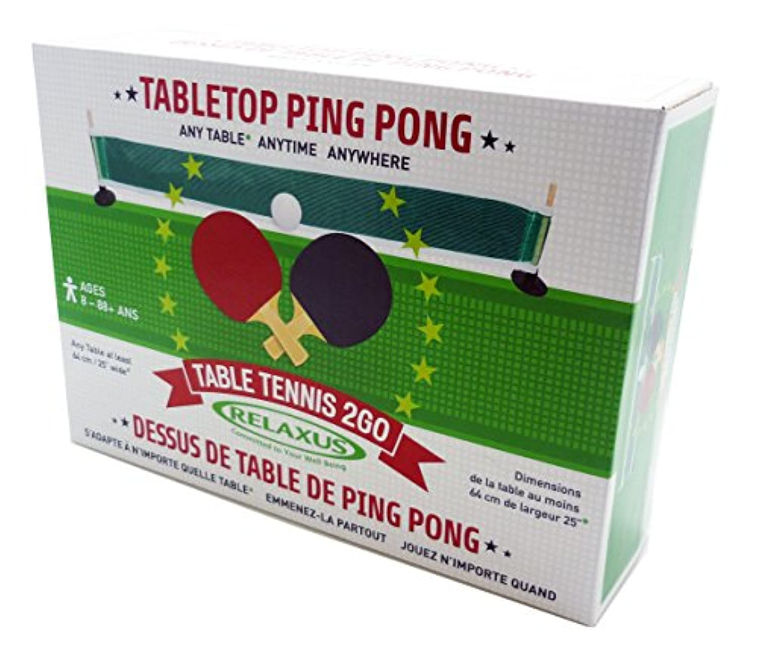 Anywhere Table Tennis to Go Set - Tabletop Ping Pong