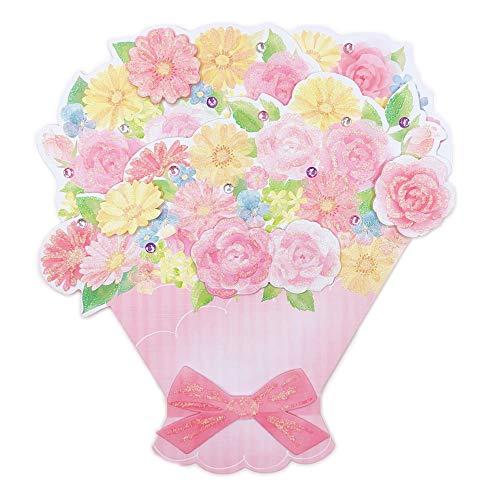 寄せ書き色紙 ピンク花束 P91007