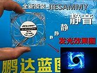 WINMING New stock mute 6015 6CM cm 60*60*15MM 5V transparent LED lighting cooling fan