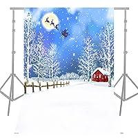 Andoer 1.5 * 2.1m / 5 * 7ft 写真撮影用 背景布 背景紙 高品質 クリスマススタイル 赤ちゃん 子供 家族背景 フォトスタジオ