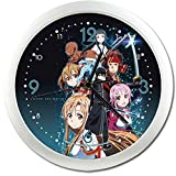ソードアート・オンライン グループ 壁掛け時計 クロック 直径約25cm 並行輸入品