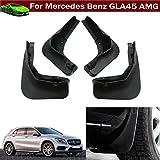 新しい4pcs車泥フラップスプラッシュガードフェンダーマッドガードMudflap For Mercedes Benz gla45AMG 201520162017