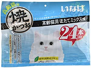 焼きシリーズ 高齢猫用ほたてミックス味 24本