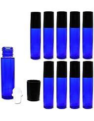 Solid Value ロールオンボトル アロマオイル ガラスロール 詰め替え 遮光瓶 (10ml 10本セット)