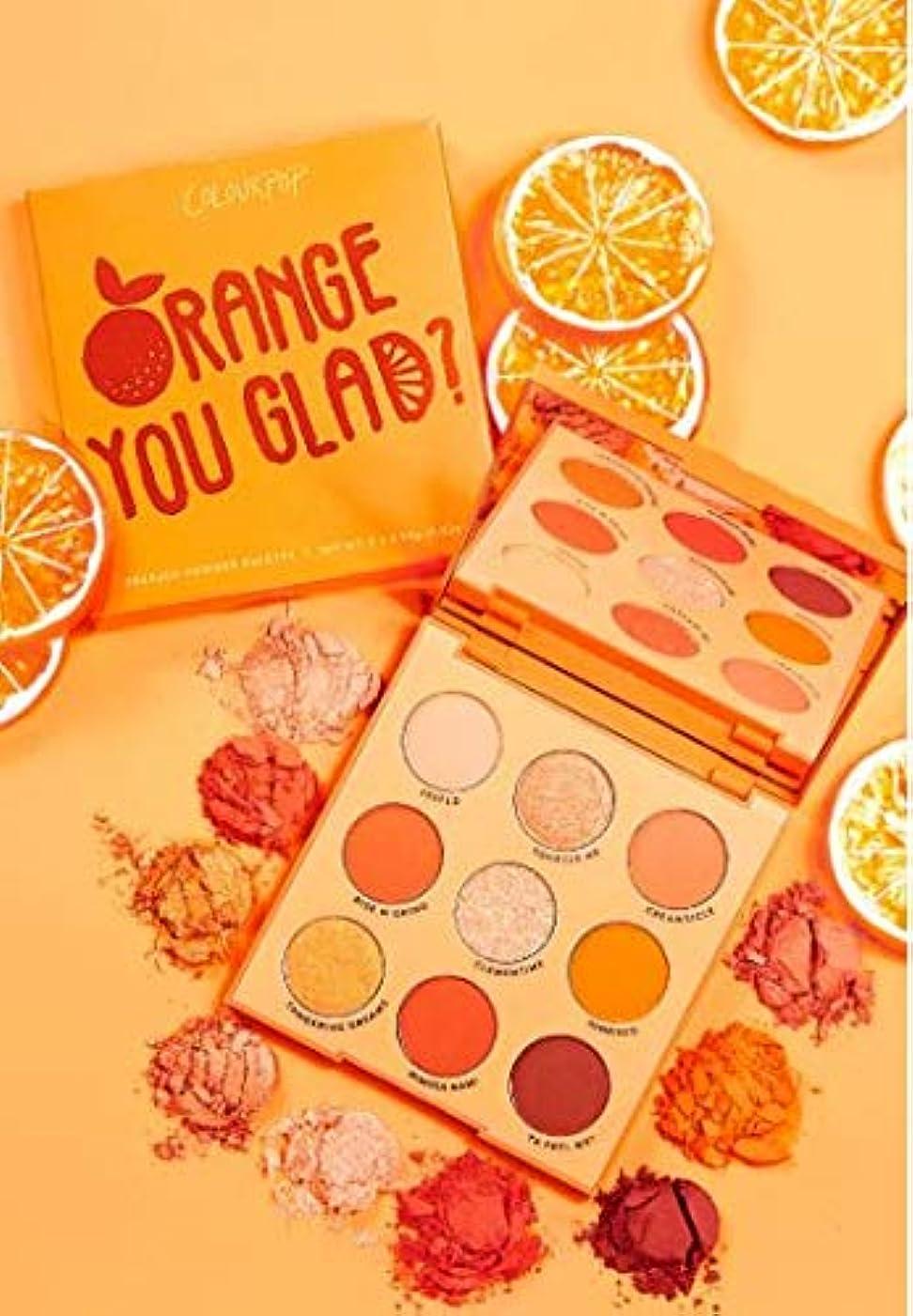 小さな弾薬指紋カラーポップ (ColourPop) ORANGE YOU GLAD オレンジアイシャドウパレット
