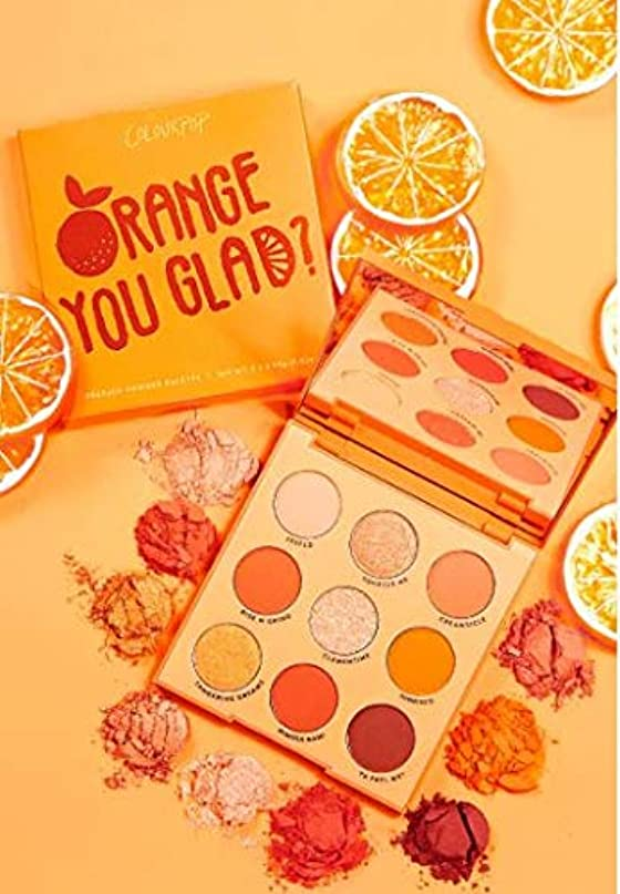 エキゾチック物理的な盆カラーポップ (ColourPop) ORANGE YOU GLAD オレンジアイシャドウパレット