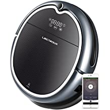 LIECTROUX Q8000 Robot Vacuum Cleaner with WiFi APP Control, 2D Map Navigation, Smart Memory, Voice Prompt, Designed for Hard Floor and Short-Pile Carpet