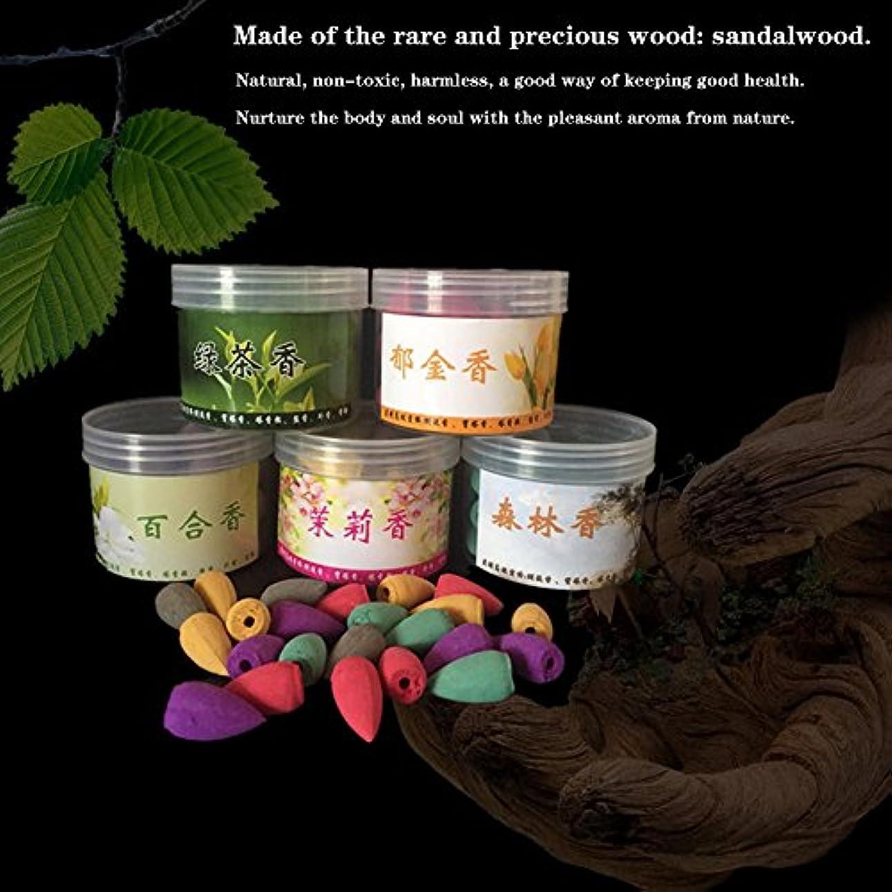 最小化するブリーフケースペインギリックNishore 45pcs /ボックスナチュラルサンダルウッド逆流香煙仏教パゴダタワー 屋内ホローコーンミックス香水 健康アロマ 空気浄化芳香剤 アロマテラピー