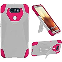 HR Wireless Cell Phone Case for LG G6 - White/Hot Pink [並行輸入品]