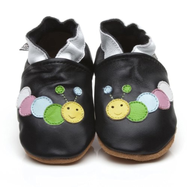 Soft Leather Baby Shoes Caterpillar Black [キャタピラーソフトレザーベビーシューズブラック] 3-4 years (16.5 cm)