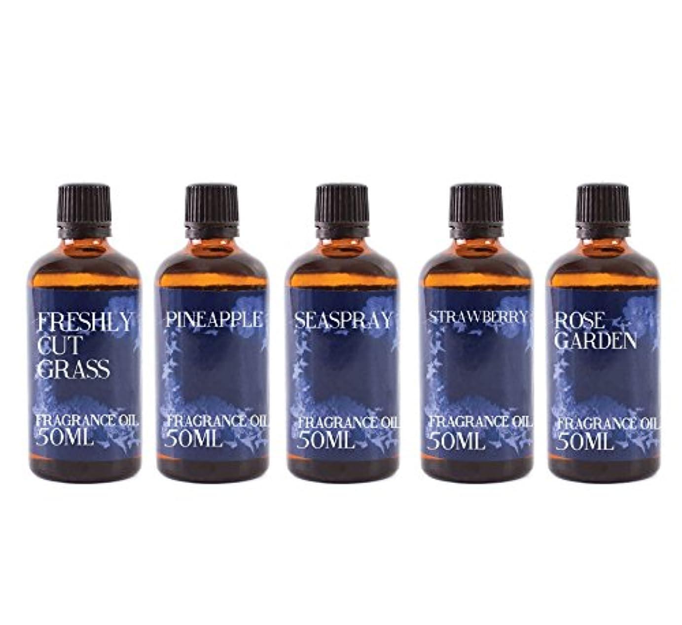 学んだ期間プライバシーMystic Moments   Gift Starter Pack of 5 x 50ml Summer Fragrant Oil