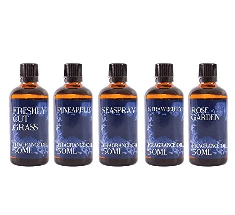 味付け階下負担Mystic Moments   Gift Starter Pack of 5 x 50ml Summer Fragrant Oil