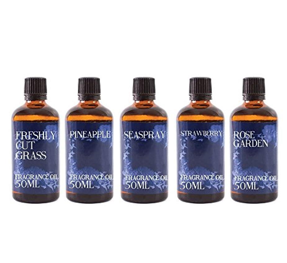 精神コンパニオン発音するMystic Moments | Gift Starter Pack of 5 x 50ml Summer Fragrant Oil