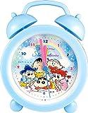 ティーズファクトリー 目覚まし時計 ミニ ベル クロック クレヨンしんちゃん ふわふわ クレヨン ブルー 3.8×9×12.2cm KS-5520260FB