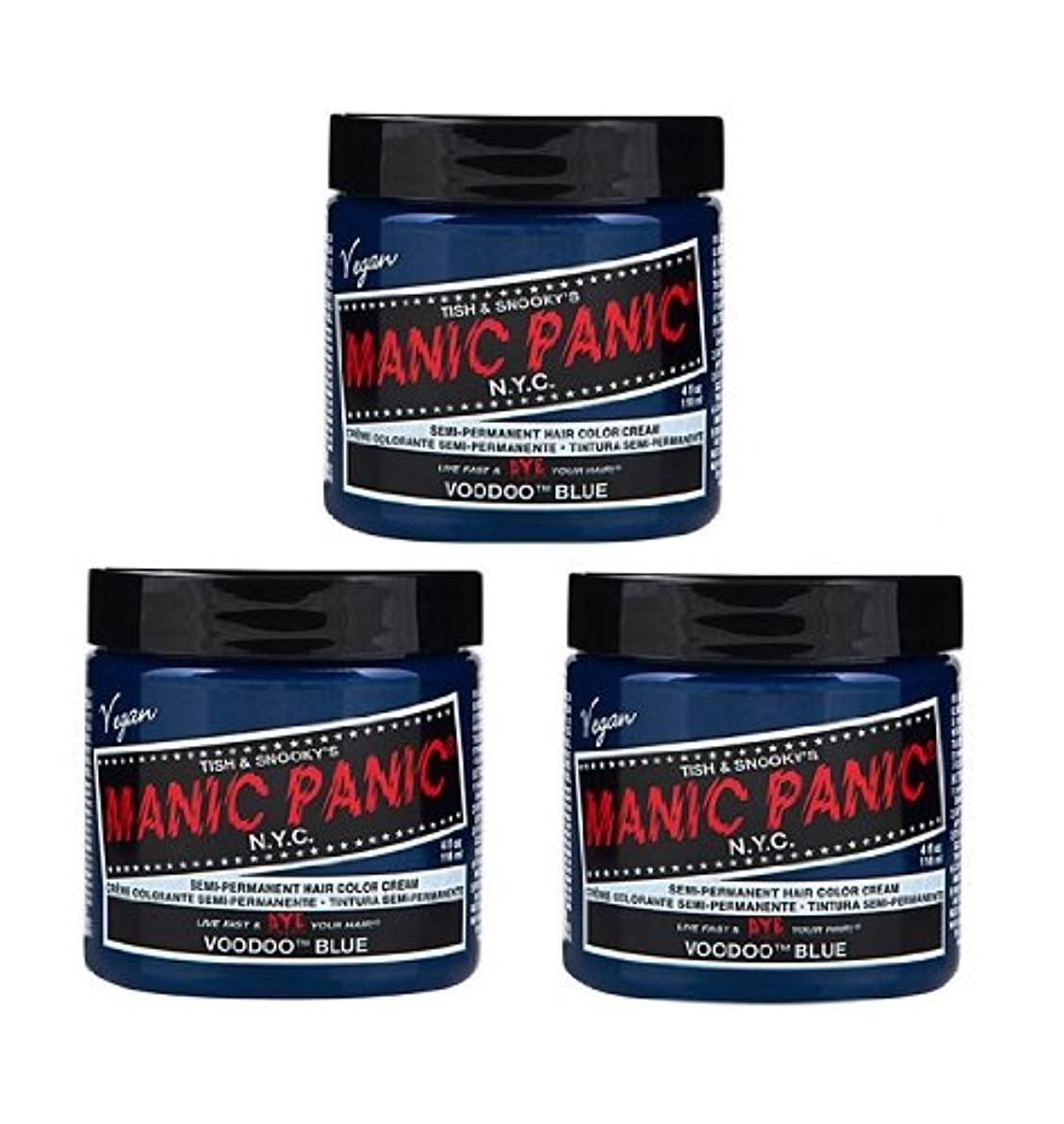 マリン擬人不機嫌そうな【3個セット】MANIC PANIC マニックパニック Voodoo Blue ブードゥーブルー 118ml