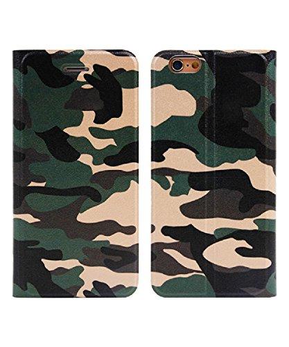 (AFROMARKET) iPhone6 / 6s / 7 / 7Plus 迷彩 ケース 手帳型 スタンド式 カモフラ カード収納 ミリタリー Apple 対応